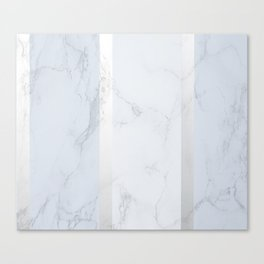 Marble Silver Canvas Print
