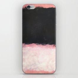 Mark Rothko - Untitled - Pink and Black Artwork iPhone Skin