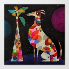 HOUND & VASE Canvas Print