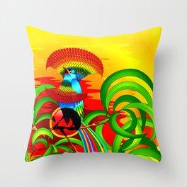 Paradise Bird Throw Pillow