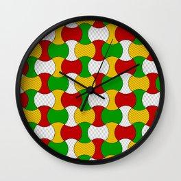 Ankara wax print Wall Clock