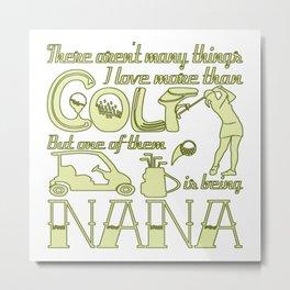 Golf Nana Metal Print