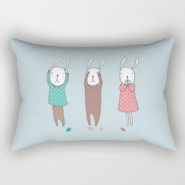 Three Wise Bunnes Rectangular Pillow