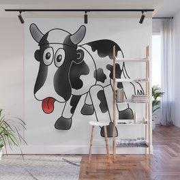 Steel Drum Friesian cow. Wall Mural