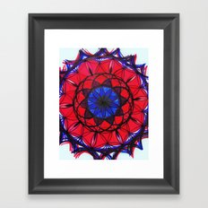 Ruby Sapphire Mandala Framed Art Print