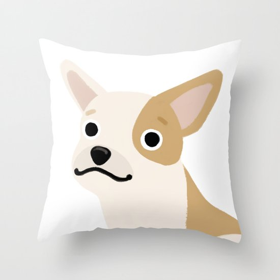 Frenchie - Cute Dog Series Throw Pillow