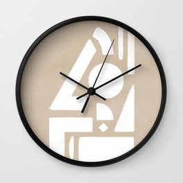 The barrier, duotone artwork Wall Clock
