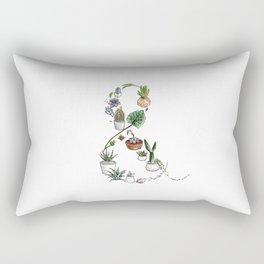 Succulent Ampersand Rectangular Pillow