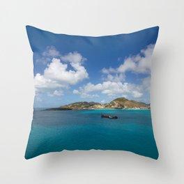 Carribbean Cove Throw Pillow