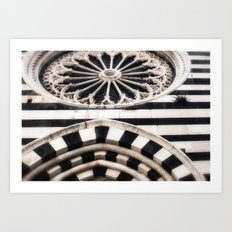 Striped Marble Architecture Art Print