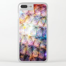 Cosmic Owls Clear iPhone Case