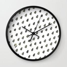 Pipas (sunflower seeds) pattern. Wall Clock