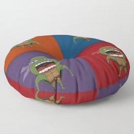 Screaming Turtles Floor Pillow