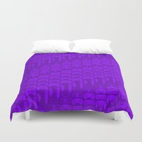 video game Duvet Covers featuring Video Game Controllers - Purple by C.Rhodes Design