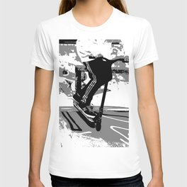 Down the Ramp - Stunt Scooter Rider  T-shirt