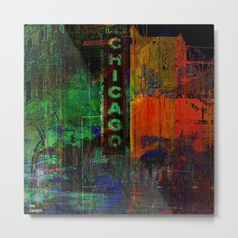 A night in Chicago Metal Print