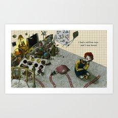 A million toys. Art Print