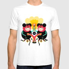 Rainbow Love Mens Fitted Tee SMALL White
