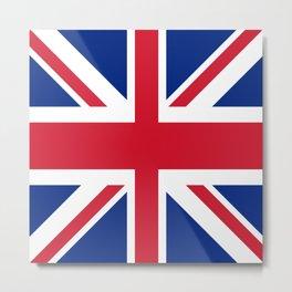 red white and blue trendy london fashion UK flag union jack Metal Print
