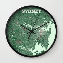 Sydney, Australia street map Wall Clock