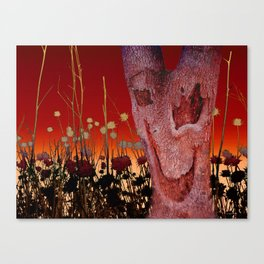 A Spook in the Thistles Canvas Print