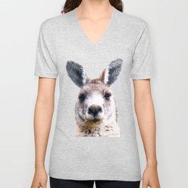 Kangaroo Portrait Unisex V-Neck