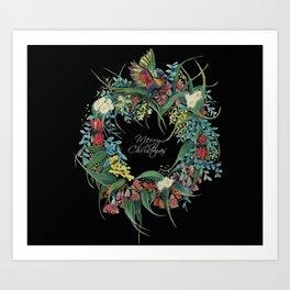 An Aussie Christmas BLACK Art Print