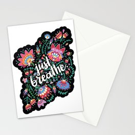 Just Breathe I Stationery Cards