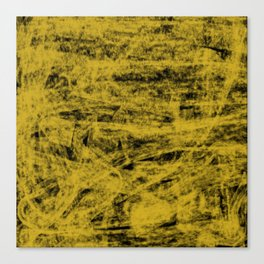 Yellow spirits on black Canvas Print