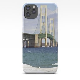Bright Mackinac Bridge iPhone Case
