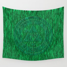 Zelda Green Art Triforce Wall Tapestry