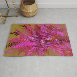 Fern, pink and gold version Rug