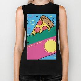 80s Pizza Party Biker Tank