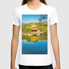 Golden Pavilion Panorama in Kyoto, Japan. T-shirt