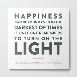 Light - Quotable Series Metal Print