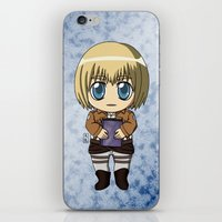 shingeki no kyojin iPhone & iPod Skins featuring Shingeki no Kyojin - Chibi Armin by Tenki Incorporated