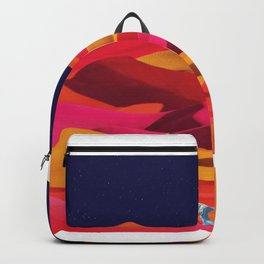 Children Play on Sunset Colored Dunes Backpack