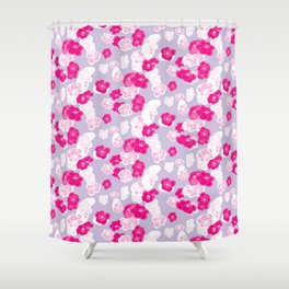Quince flower pattern 2c Shower Curtain