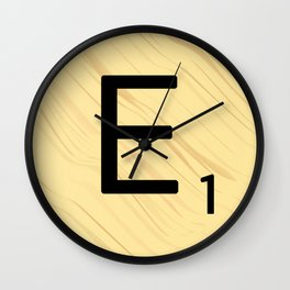 Scrabble E Decor, Scrabble Art, Large Scrabble Prints, Word Art, Accessories, Apparel, Home Decor Wall Clock