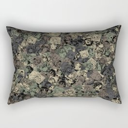 Ahegao camouflage Rectangular Pillow