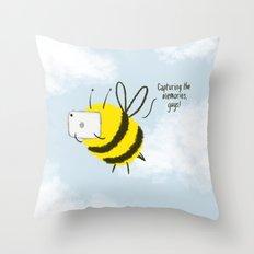 Festival Bees  Throw Pillow