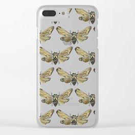 Summer Cicada – Black & Gold Palette Clear iPhone Case