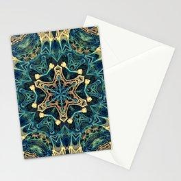 Mandala Star Fractal - Manafold Art - Mandlebulb Stationery Cards
