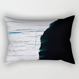 Black and White - Abstract minimal Iceberg aerial view in Greenland - Landscape Photography Rectangular Pillow