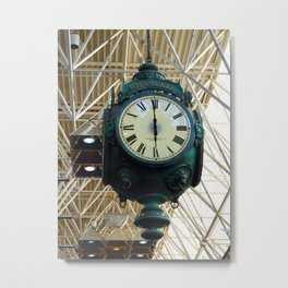 Milwaukee Airport Clock Metal Print