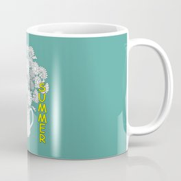 hello summer with yellow butterfly Coffee Mug