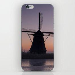 Windmills at Sunrise III iPhone Skin