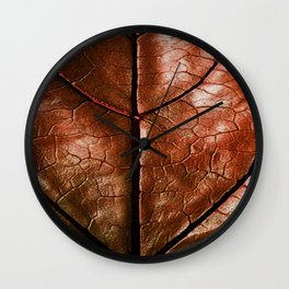 MACHO MANS ART OLD LEATHERY BROWN LEAF Wall Clock