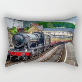Steam Locomotive Wales Rectangular Pillow