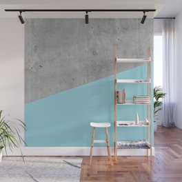 Concrete and Island Paradise Color Wall Mural